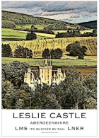 Buy a beautiful recreation of an old Poster of Leslie castle