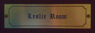 leslie room door tag