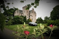 Castle view from the Garden Mercedes Benz club